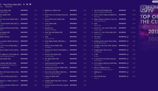 最新クラブミュージックが40曲も入って600円!?MVも入ったアルバム「Top Of The Clubs 2013」
