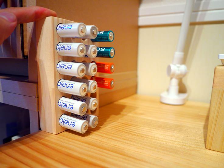 単3電池バッテリースタンド