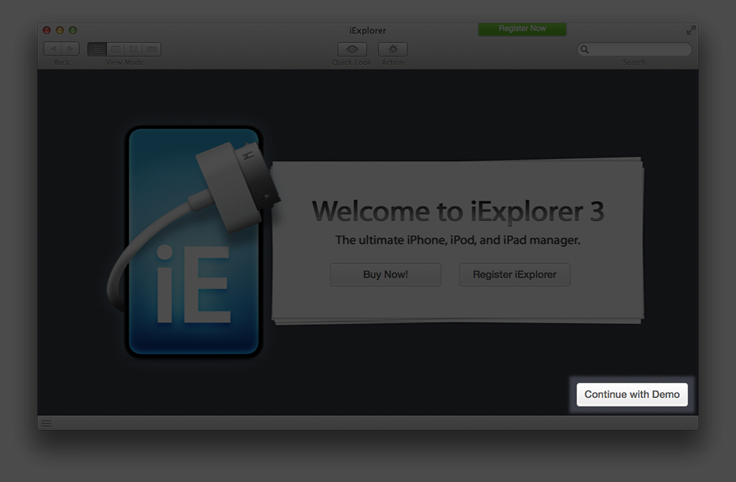 iExplorer demo