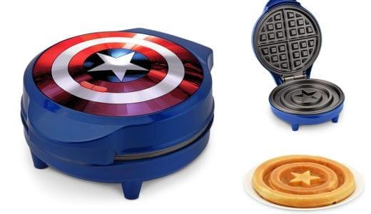 子供に大人気!アイアンマンも嫉妬するキャプテン・アメリカ仕様のワッフルメーカーが登場