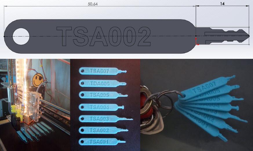 TSAロック3Dデータ