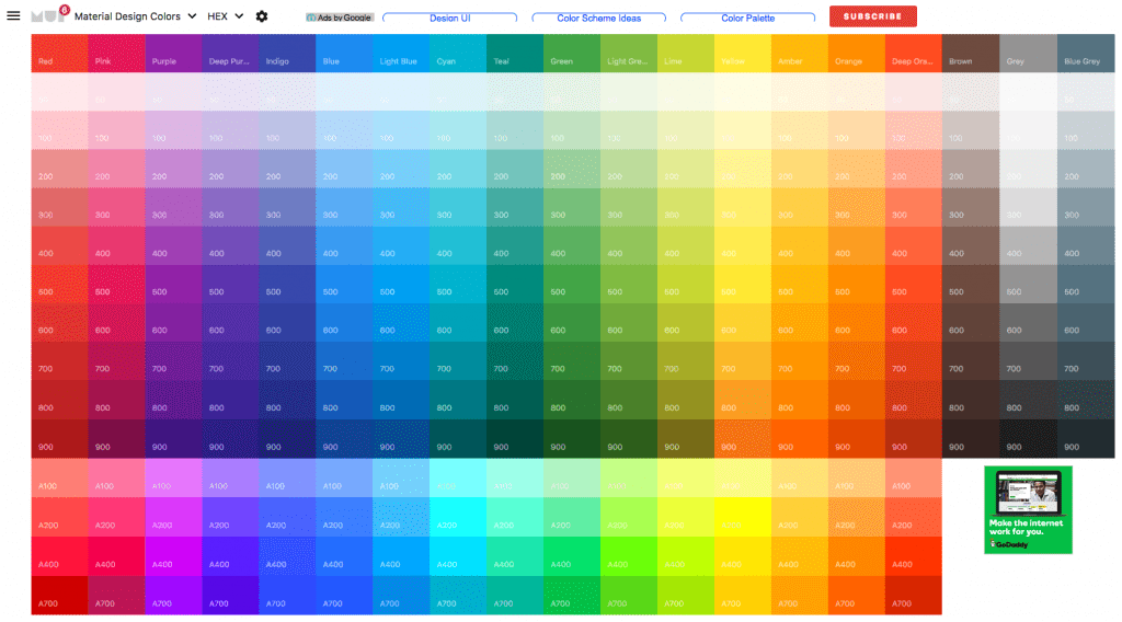 Material Design Color