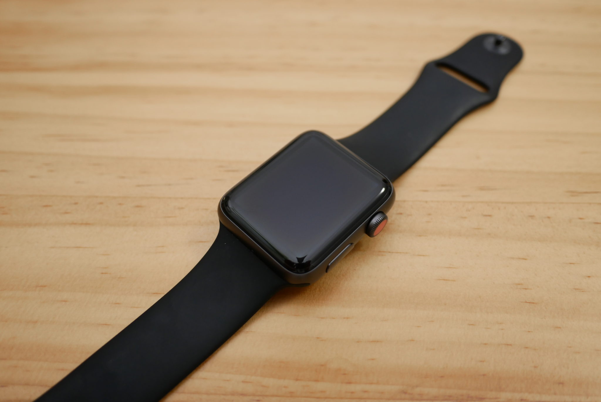 Apple Watch Space Gray Aluminum Case with Gray Sport Band