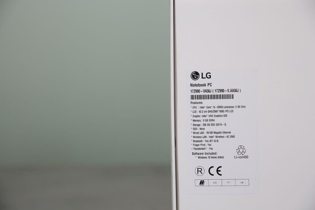 LG gram 17Z990 開封レビュー
