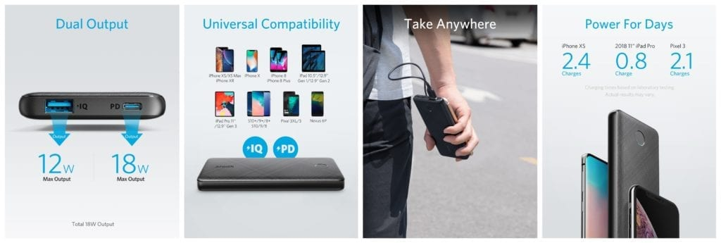 Anker PowerCore Slim 10000 PD| USB PD対応の薄型&大容量モバイルバッテリー