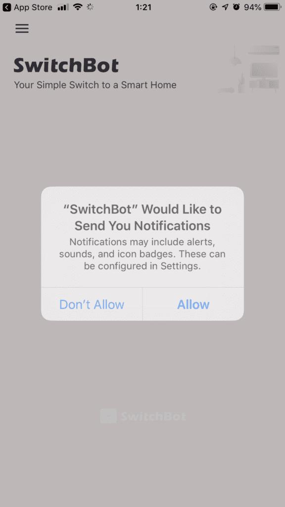 スマートホーム Switchbot アプリ設定