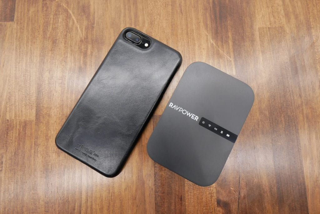 RAVPower Wi-Fi SDカードリーダー FileHub サイズ比較