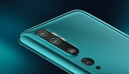 1億800万画素で5つのカメラを搭載するXiaomi Note 10が11月6日発表で 7日に発売開始