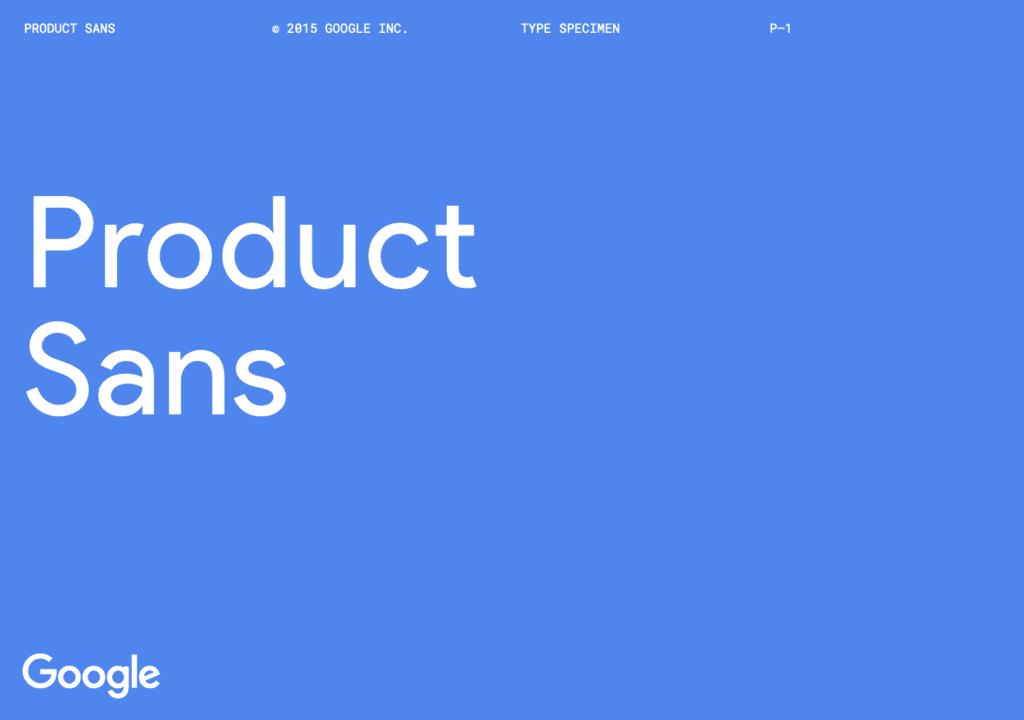 Google Product Sans
