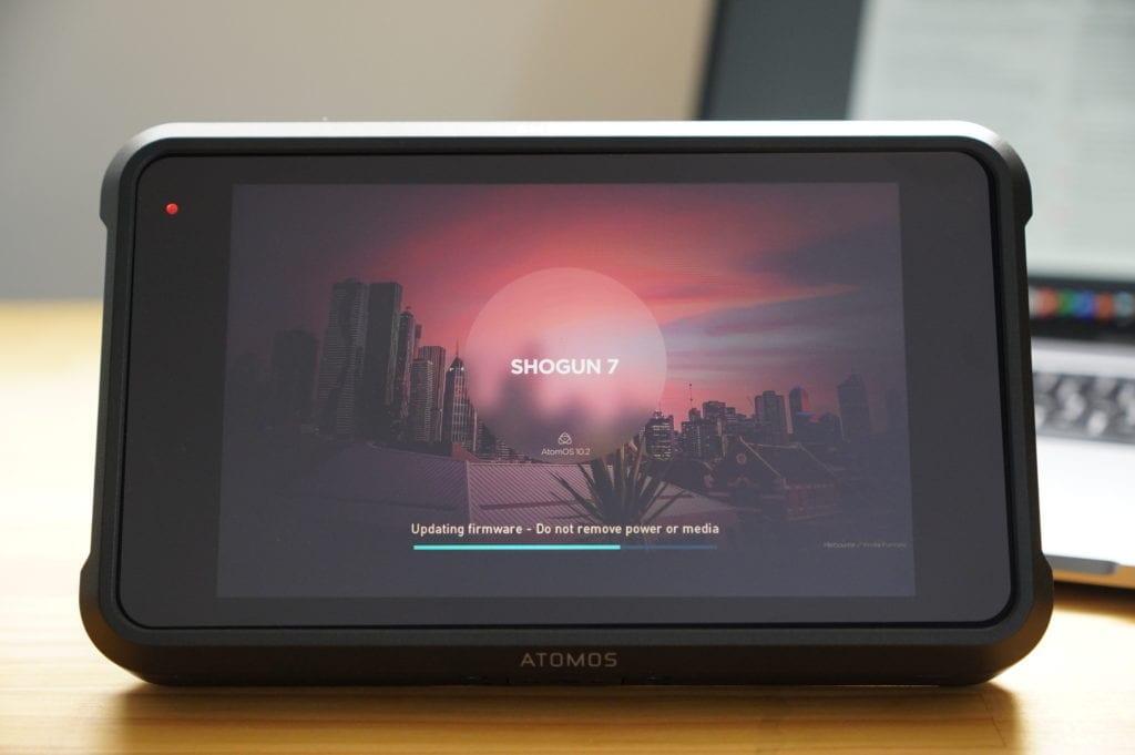 Atomos Shogun 7 ファームウェアアップデート