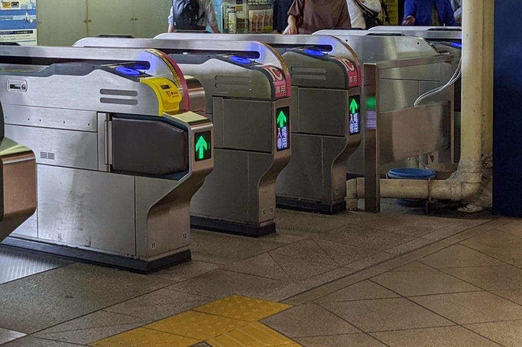 東京メトロ改札