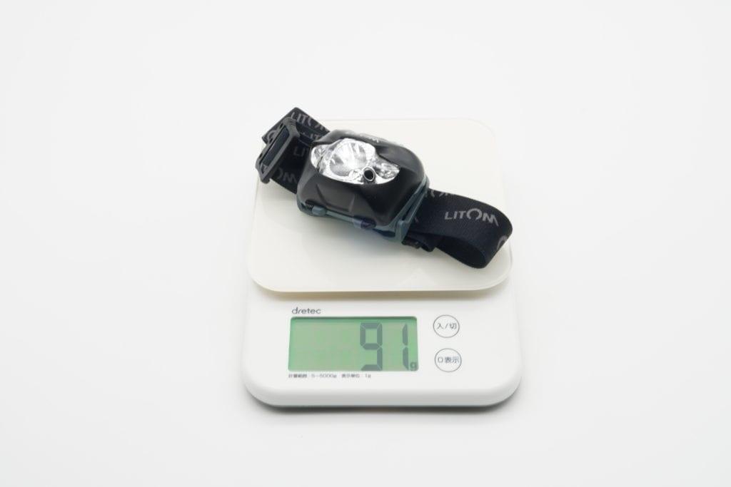 Litom LEDヘッドライト 重量