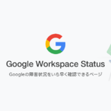 Google Workspace status dashbord