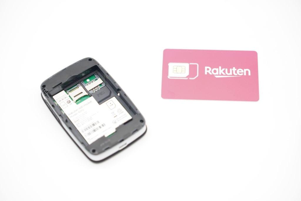 楽天 WiFi Pocket レビュー 評価 SIMカード取付
