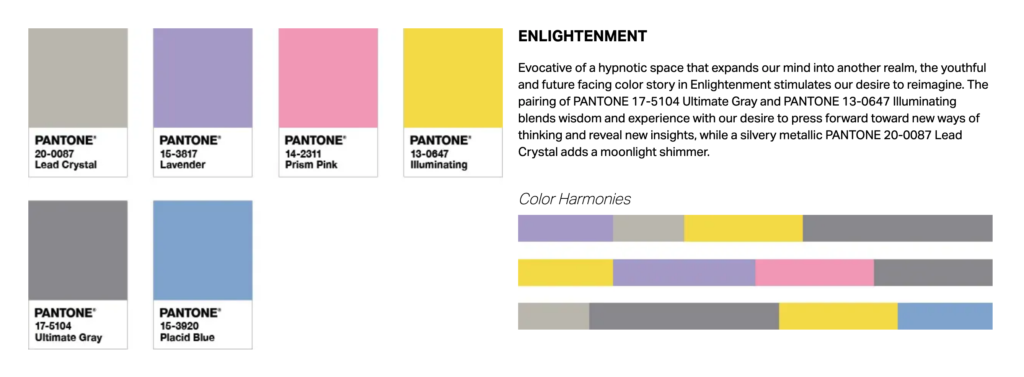 PANTONE Color of the Year 2021 カラーパターン