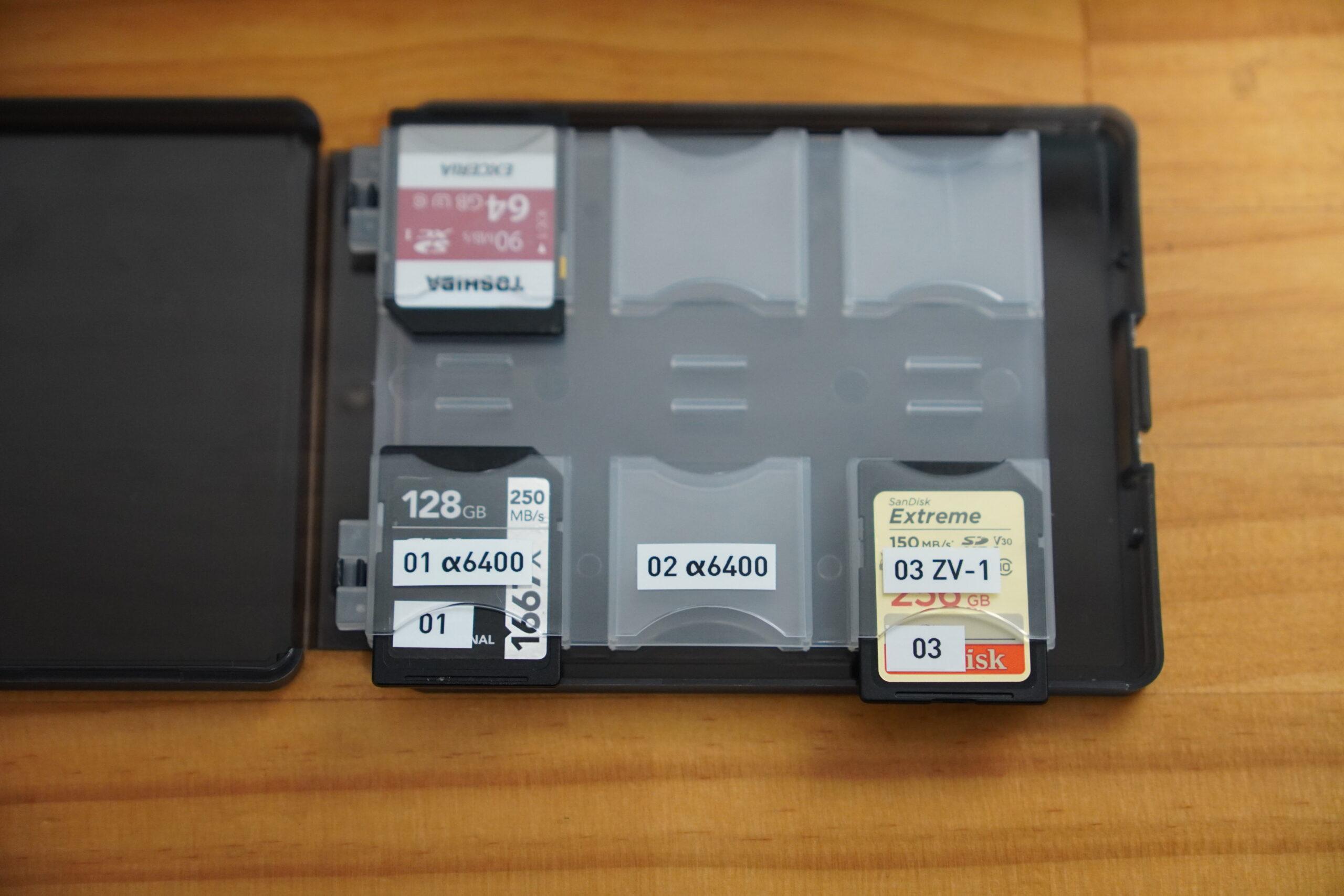 テプラ SDカード管理