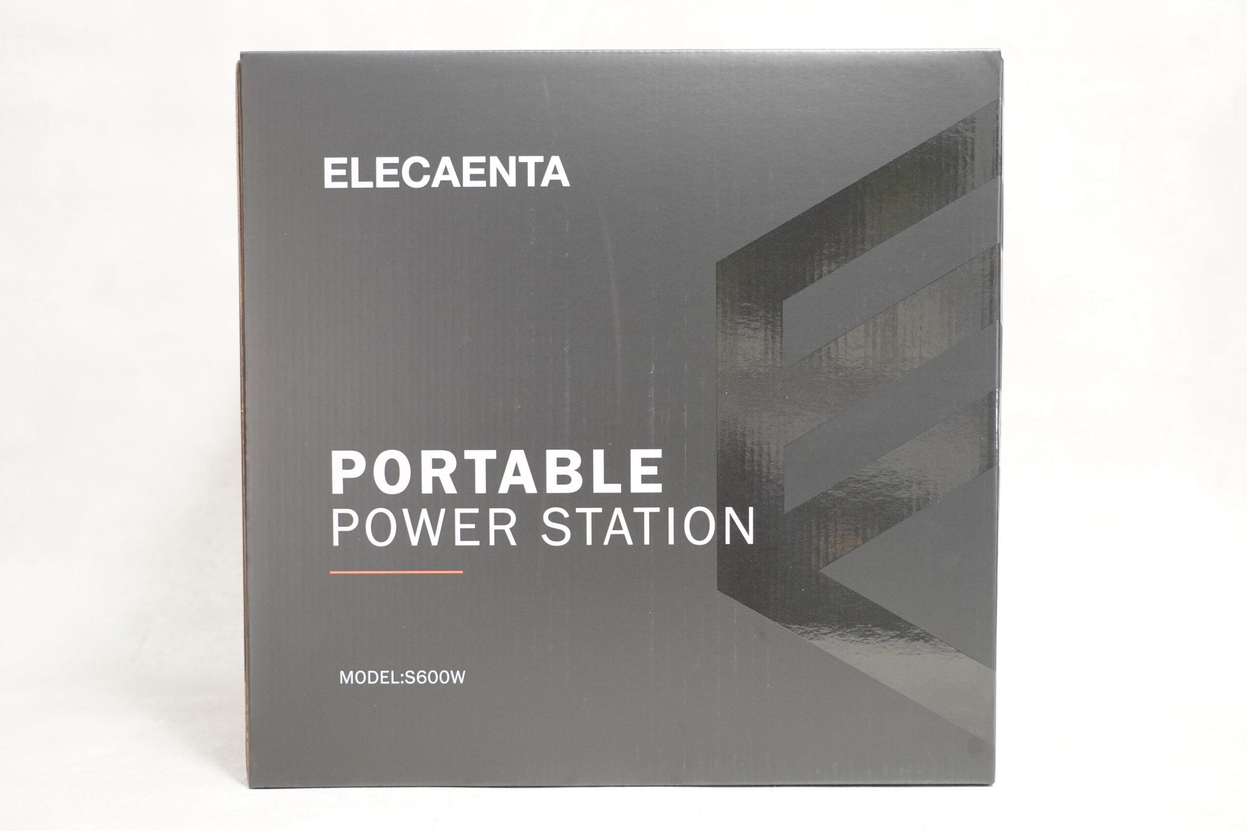 ELECAENTA S600W ポータブル電源 レビュー