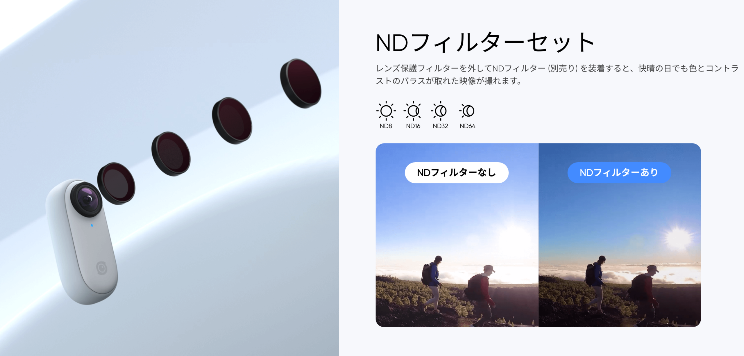 Insta360 GO 2 NDフィルターキット