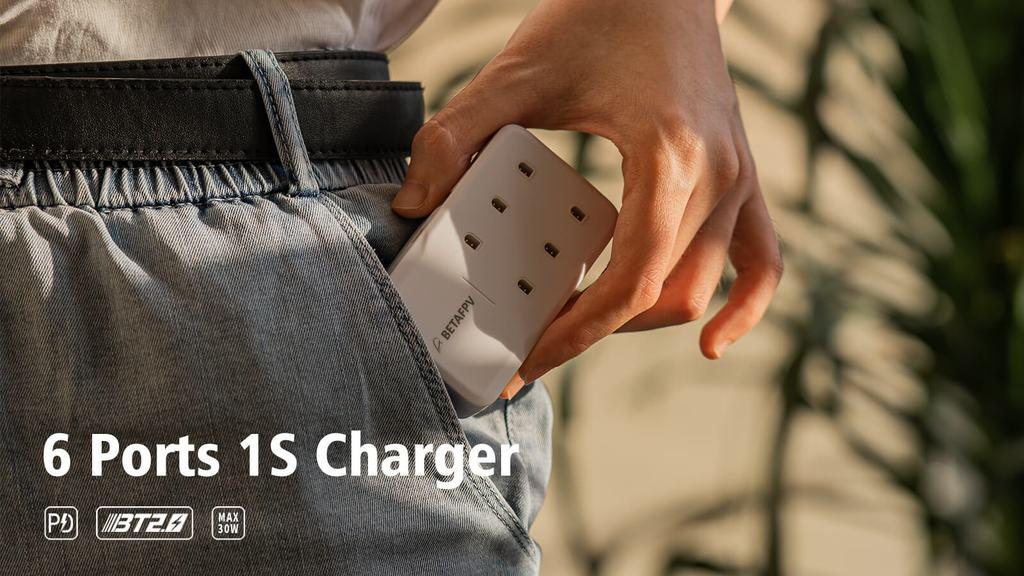 BETAFPV 6ポート1Sバッテリー充電器 レビュー
