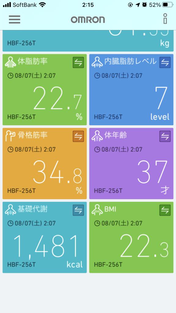 Omron HBF-256T 体重体組成計 レビュー アプリデータ同期