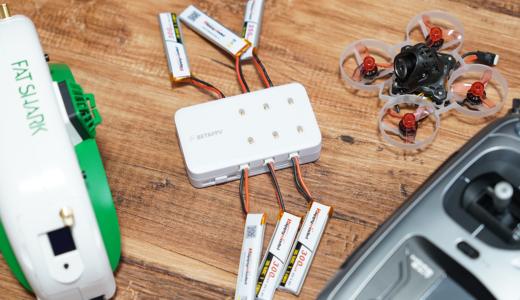 【レビュー】TYPE-Cで高速充電 BETAFPV 6ポート1Sバッテリーチャージャー
